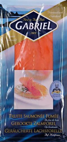 Sliced cold smoked trout - Smoked fish