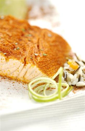 Belle-vue salmon tandoori - Cooked fish